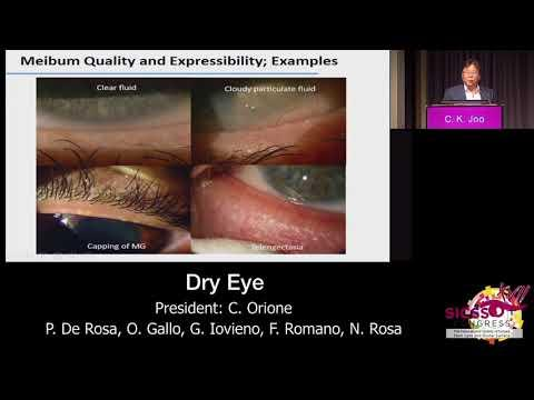 SICSSO 2018 - ITA - C. K. Joo (Korea) - Meibomian Gland disfunction: up to date