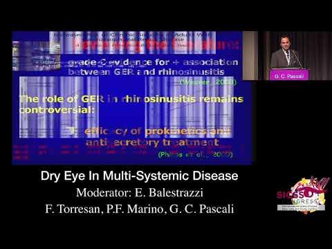 SICSSO 2018 - ITA - G. C. Passali (Siena) - Dry Eye in  Multi-Systemic Diseases