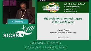SICSSO 2019 - ITA - V. Sarnicola (Grosseto), E. J. Holland (USA), C. Panico (Turin) - Opening Remark